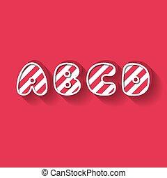 A B C D - Christmas Candy Alphabet