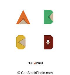 A B C D - Paper Alphabet