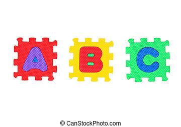 A, B, C