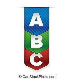 A B C letters progress bar