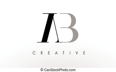 A B Letter Logo Design. Creative AB Letters Icon - A B ...
