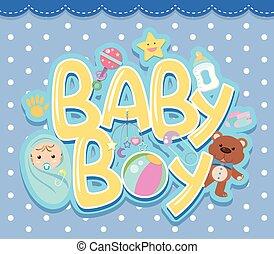 A baby boy logo