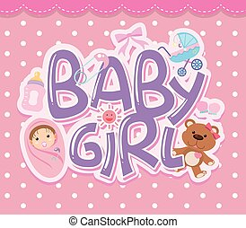 A baby girl logo