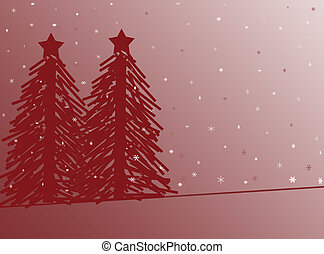 Christmas Tree - A background of Christmas Trees