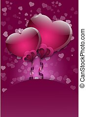 A background of hearts on Valentine's Day.Vector