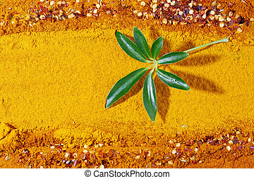 A background of turmeric powder