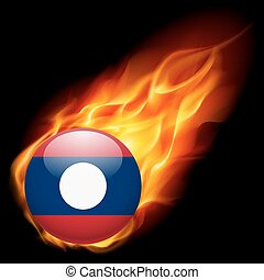 A badge in colours of Laos flag