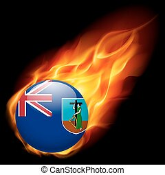 A badge in colours of Montserrat flag