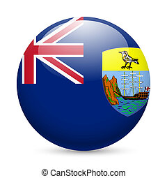 A badge in colours of Saint Helena flag