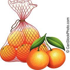 A bag of tangerine