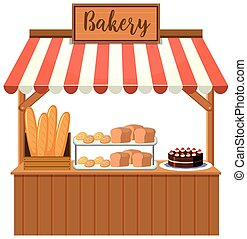 A bakery food stall