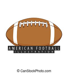 A ball for american football closeup - Ball for american...