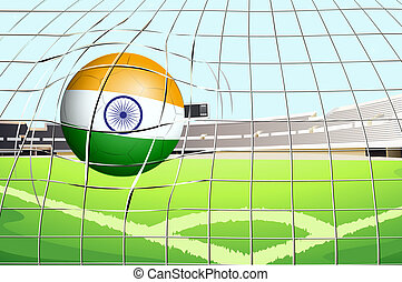 A ball with the flag of India