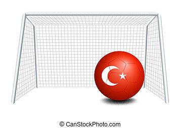 A ball with the Turkey flag