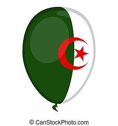 A balloon shaped flag of Algeria