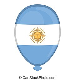 A balloon shaped flag of Argentina