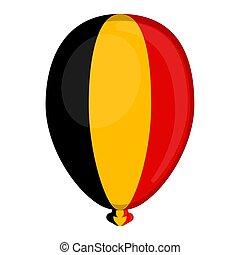 A balloon shaped flag of Belgium