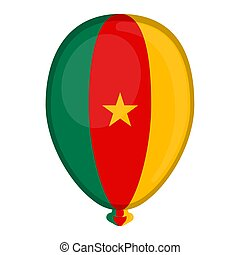 A balloon shaped flag of Cameroon