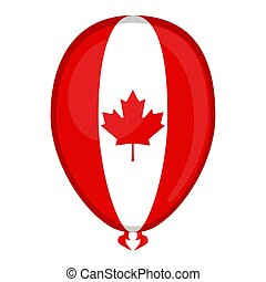 A balloon shaped flag of Canada