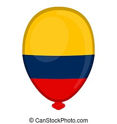 A balloon shaped flag of Colombia