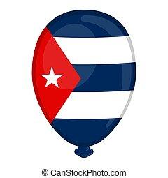 A balloon shaped flag of Cuba