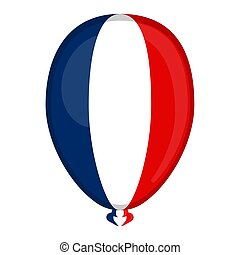 A balloon shaped flag of France