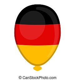 A balloon shaped flag of Germany