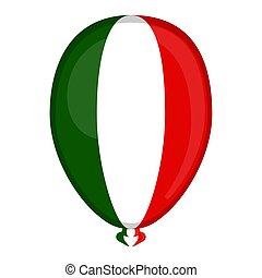 A balloon shaped flag of Italy