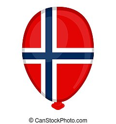 A balloon shaped flag of Norway