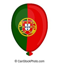 A balloon shaped flag of Portugal