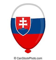 A balloon shaped flag of Slovakia