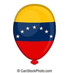A balloon shaped flag of Venezuela