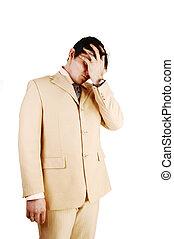 A bankrupt businessman.
