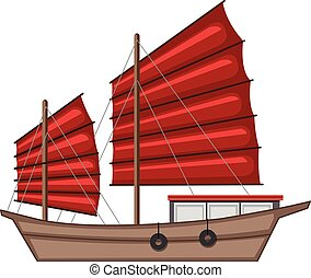 A Barque on White Background