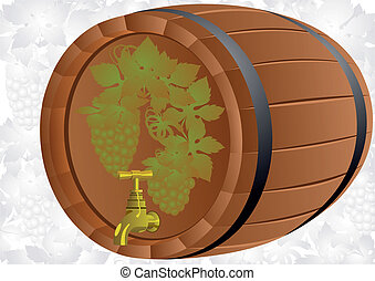 A barrel of wine grape