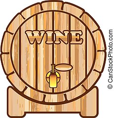 A barrel of Wine vector