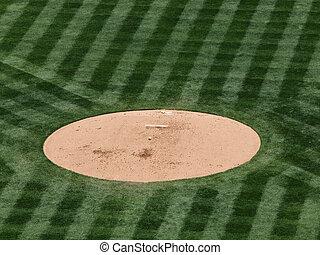 baseball rest on a mound