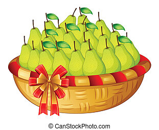 A basket of fruits