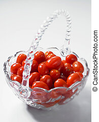 a basket of tomato