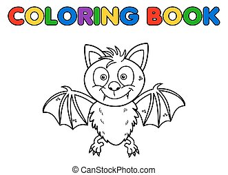 a bat for coloring