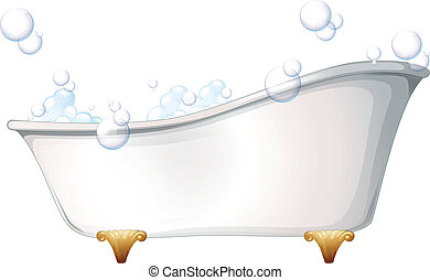 A bathtub - Illustration of a bathtub on a white background