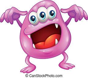 A beanie monster in horror