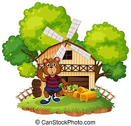 A bear at the farm