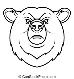 A Bear head logo