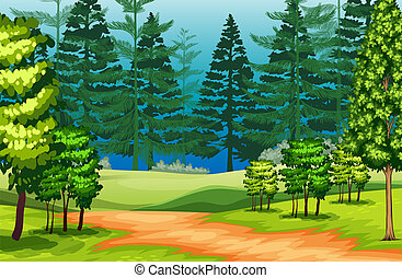 a, beau, paysage nature