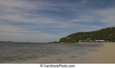 A beautiful beach resort - A beautiful scenic shot of a...