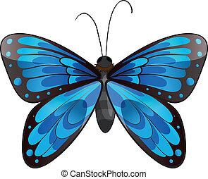 A beautiful blue butterfly - Illustration of a beautiful...