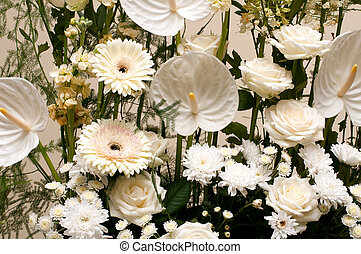 A beautiful bouquet ,variety of flowers background