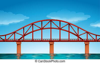 Illustration of a beautiful bridge