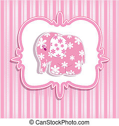 A beautiful card - A beautiful baby girl with a card for a...
